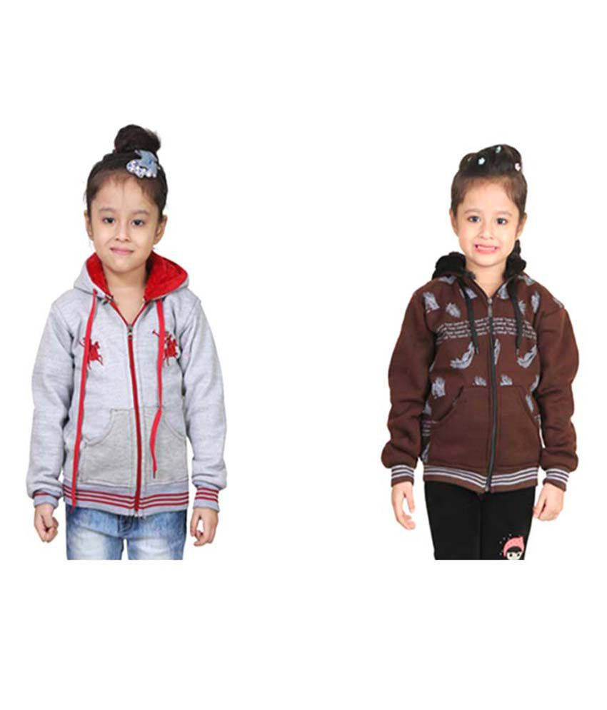 Qeboo Multicolor Combo Sweatshirts For Girls
