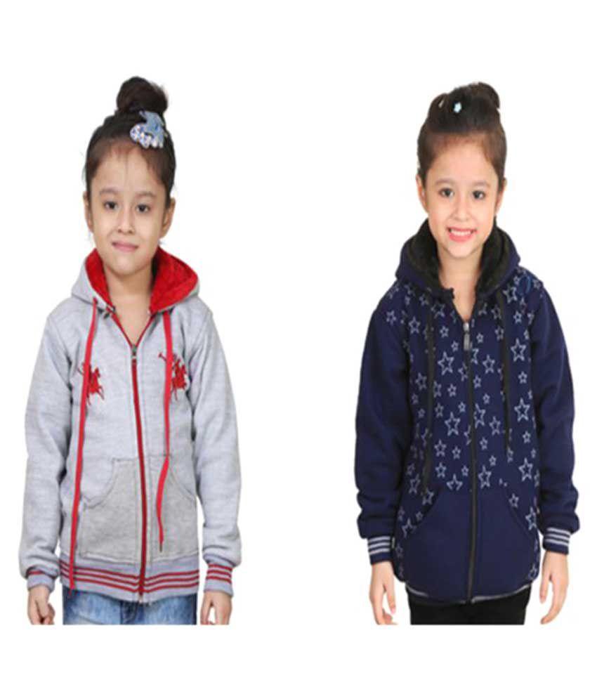 Qeboo Multicolored Fleece Sweatshirt Combo