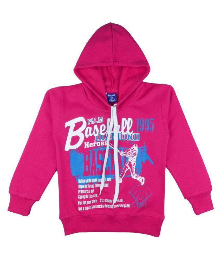 Sweet Angel Pink Cotton Sweatshirt