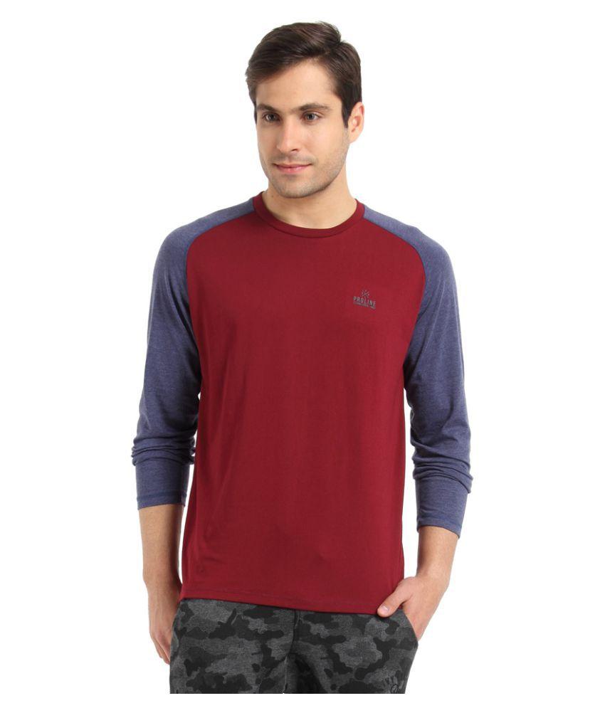 Proline Maroon Round T-Shirt