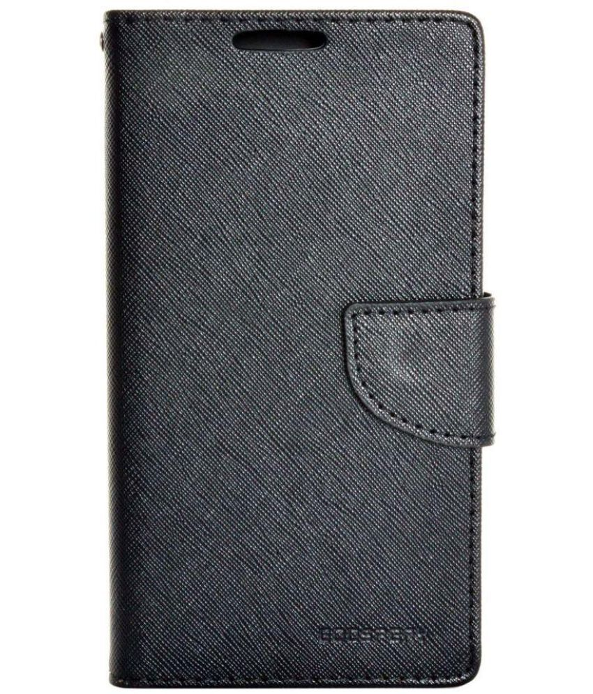 Samsung Galaxy On7 Flip Cover by Cell Mates - Black