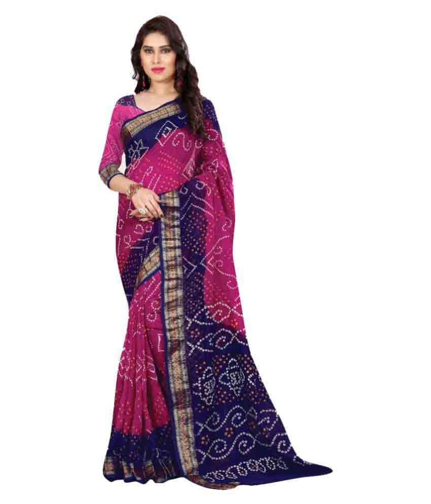 Annekal Pink Art Silk Saree