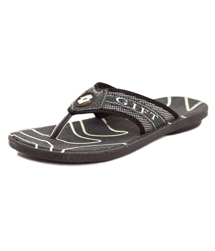 Pu Shot Gray Thong Flip Flop  available at snapdeal for Rs.129