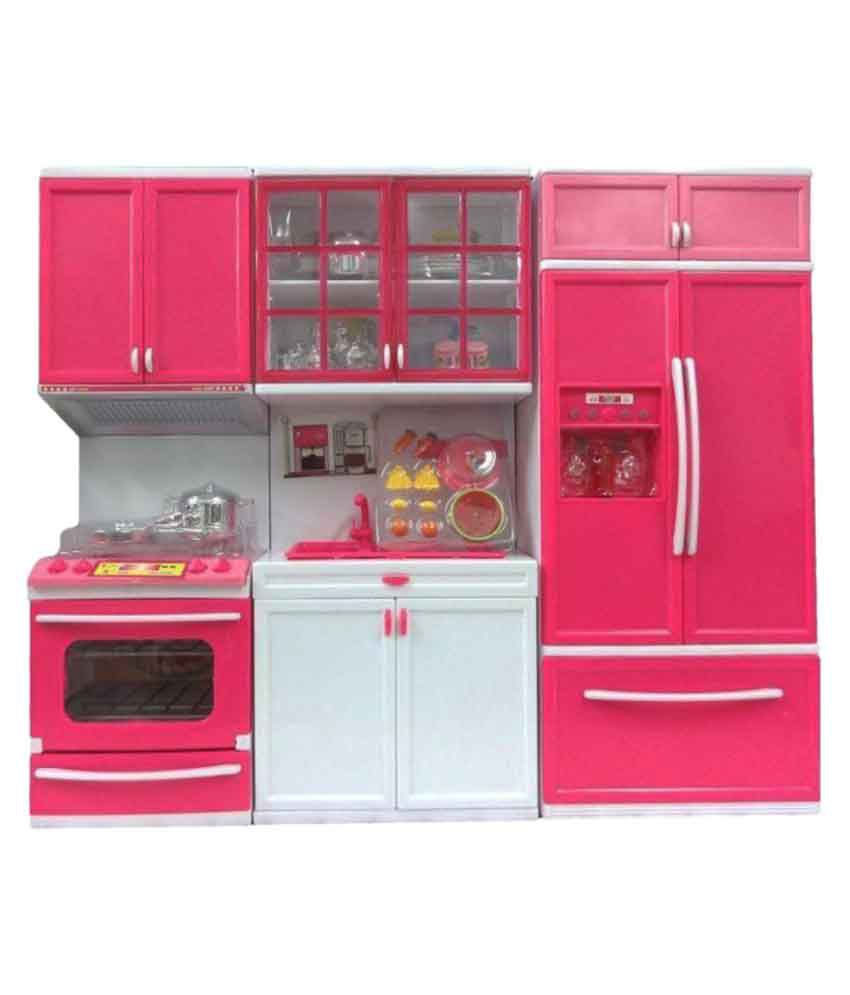 Kitchen Set Online: Om Multicolor Kitchen Play Set With Refrigerator Cook Top