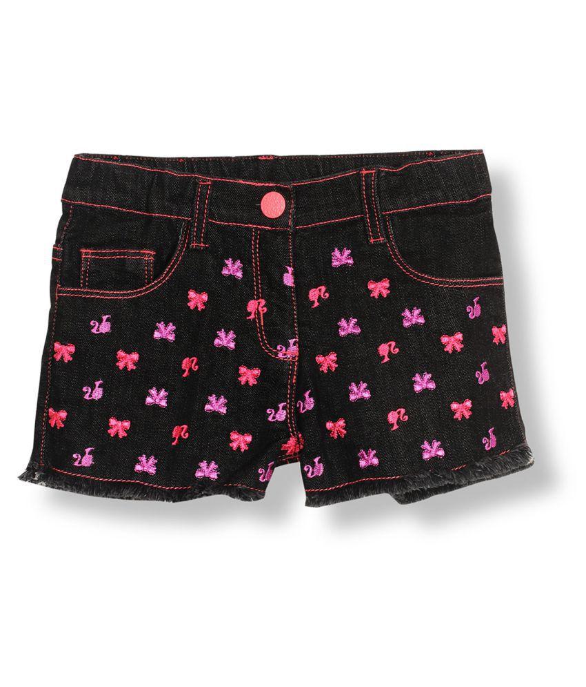 Barbie Black Denim Shorts