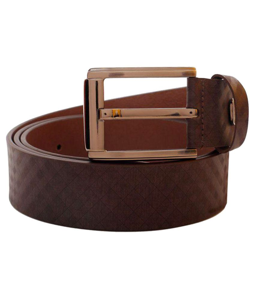 Hide Bulls Beige Leather Casual Belts