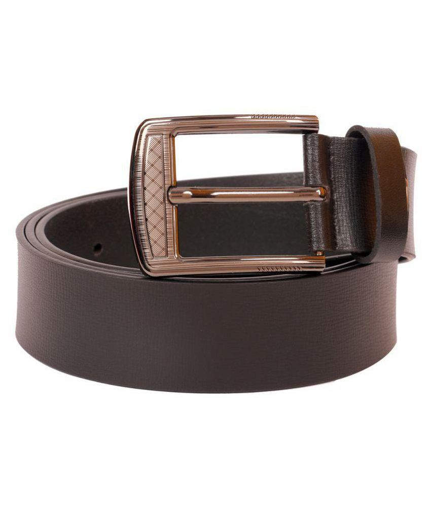 Hide Bulls Black Leather Casual Belts