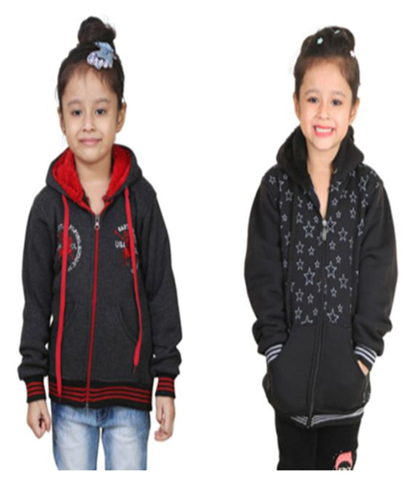 Crazeis Black Sweatshirt - Pack of 2