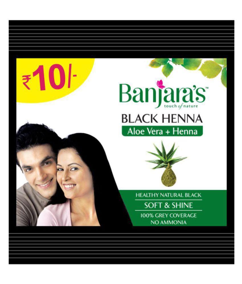 ff82f017ae55c Banjaras Black Henna Aloevera Temporary Hair Color Black 90 gm Pack of 10: Buy  Banjaras Black Henna Aloevera Temporary Hair Color Black 90 gm Pack of 10  at ...
