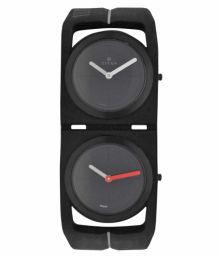 Titan Black Silicon Analog Watch