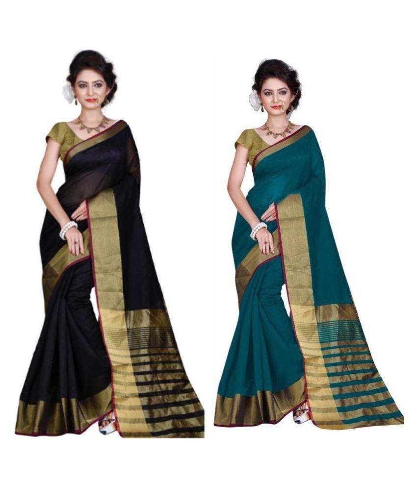 Gazal Fashions Multicoloured Chanderi Saree Combos