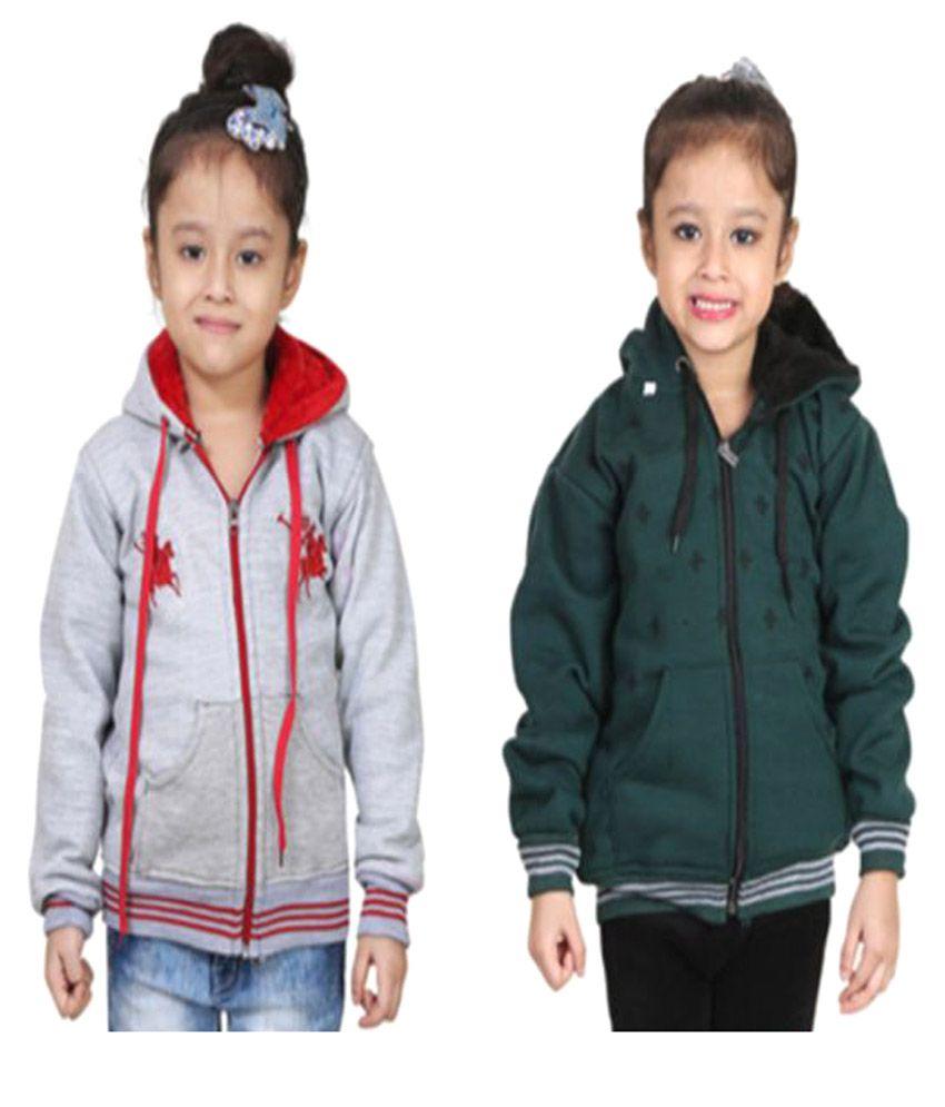 Crazeis Multicolor Sweatshirt Pack Of 2