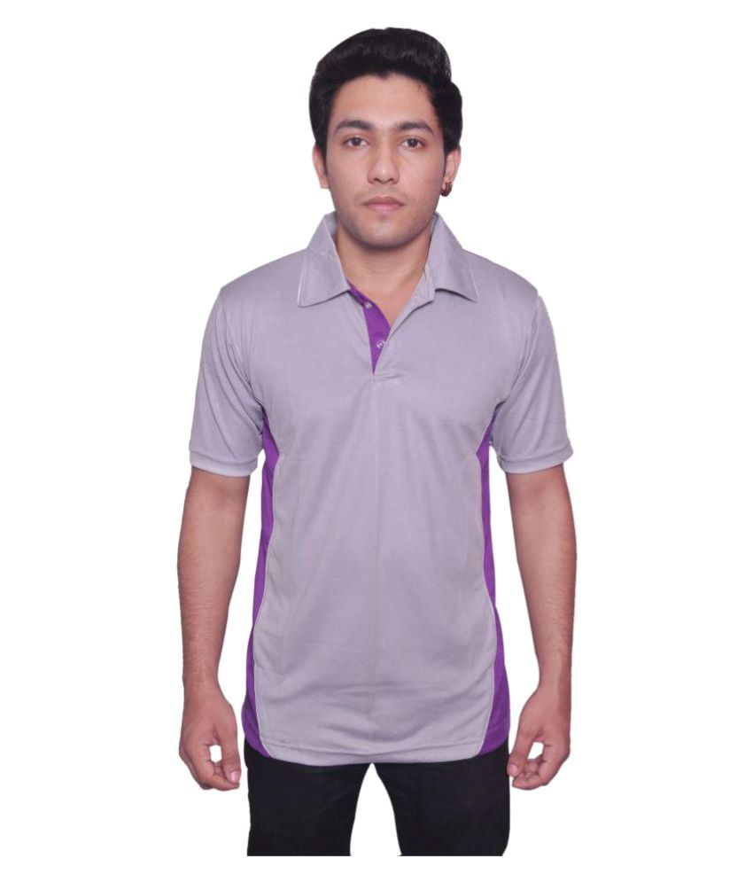 Dyed Colours Purple Polyester T Shirt