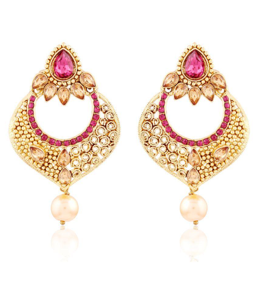 I Jewels Pink Earrings for Women