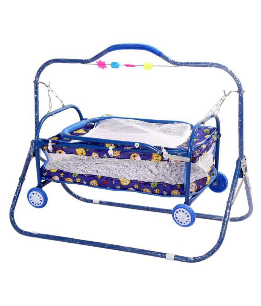 Janda Blue 4 Wheel Bassinet
