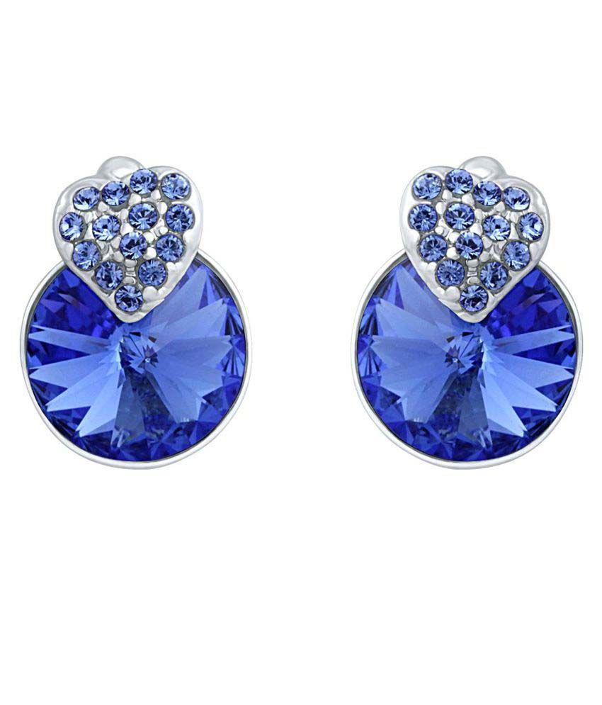791fef7e8 Mahi Brass Stud Blue Earring For Women - ER1194089RCBlu - Buy Mahi Brass  Stud Blue Earring For Women - ER1194089RCBlu Online at Best Prices in India  on ...