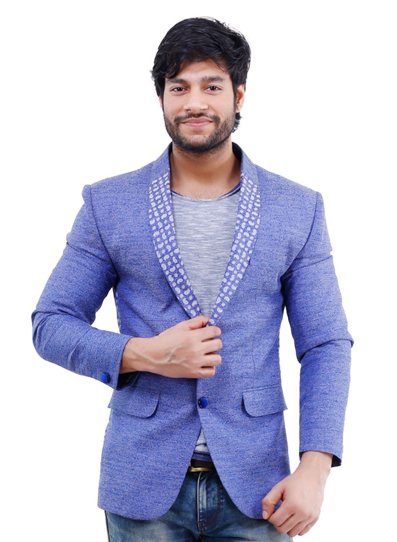 La Mode Blue Casual Blazers