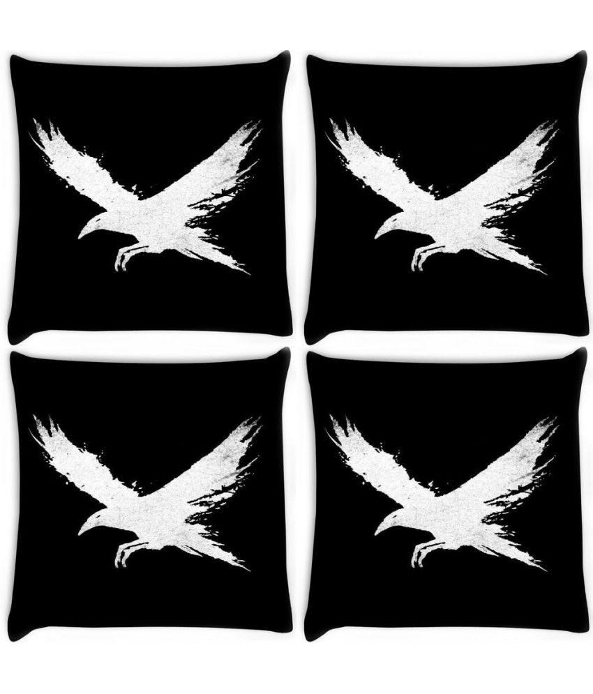 Snoogg Set of 4 Polyester Cushion Covers