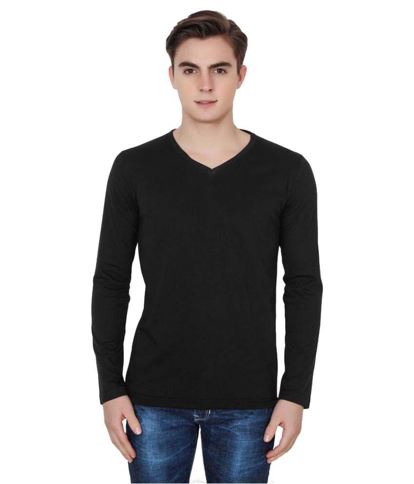 Jainish Black V-Neck T-Shirt
