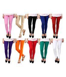 Aashish Fabrics Lycra Pack of 10 Leggings