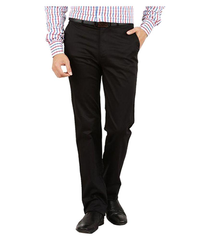 Tibre Grey Regular Flat Trousers