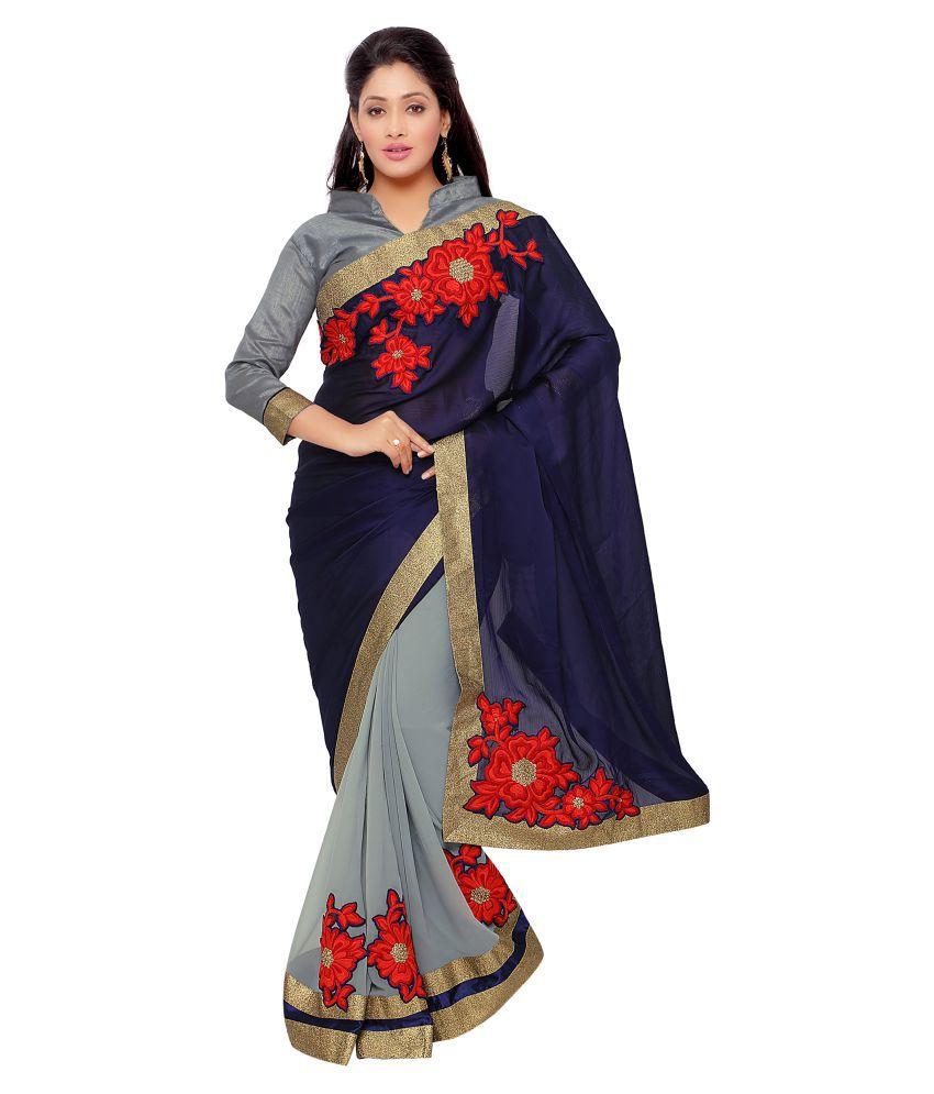 Kalish Multicoloured Satin Saree