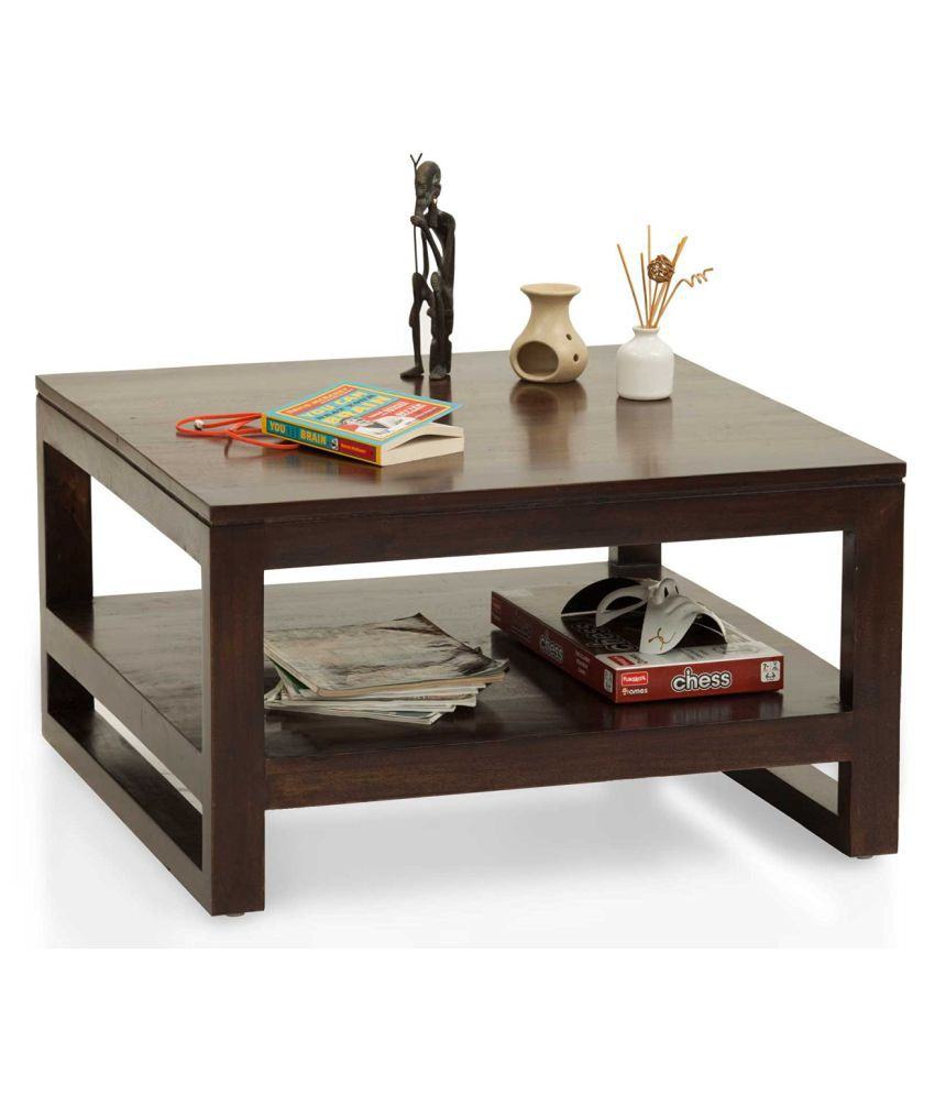 Solid Wood Coffee Table Online India: Amaani Furniture Vats Solid Wood Coffee Table