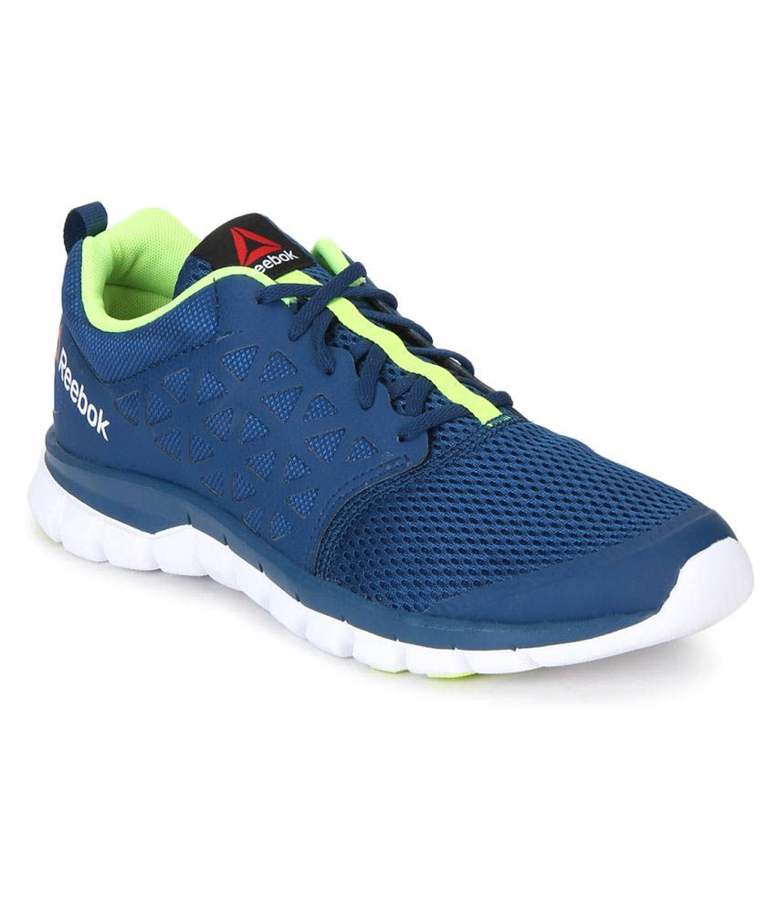 Reebok Sublite XT Cushion 2.0 Mens Trainers Running Shoes Sneakers Gym Mid Blue