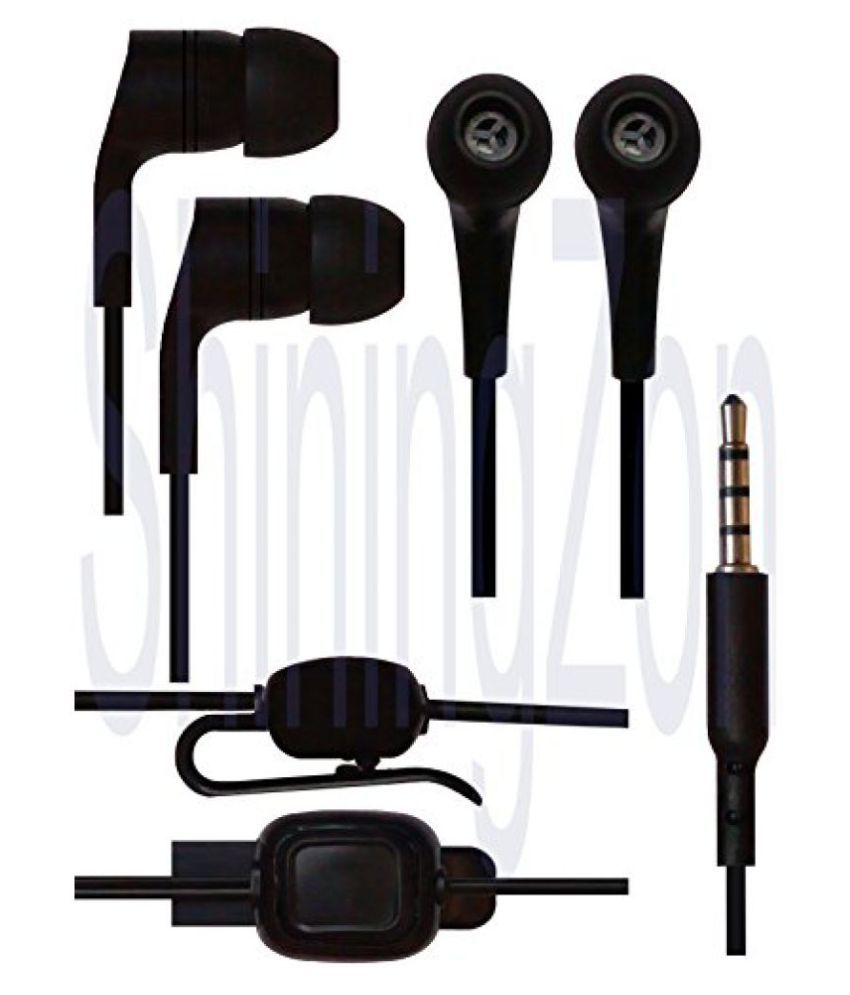 ShiningZon 3.5mm In Ear Earbud Stereo Headset Handsfree Headphone Earphone with Mic For Xiaomi Redmi 3s / Xiaomi Redmi 3s Prime - Black