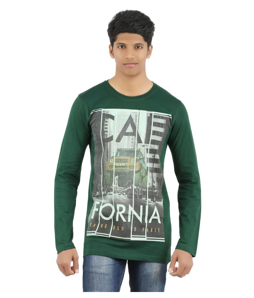 Port Deal Green Round T-Shirt