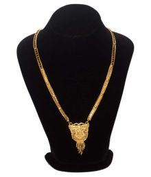 Aarohi Jewells & Gems Golden Mangalsutra For Women