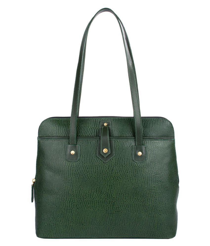 Hidesign Green Pure Leather Shoulder Bag