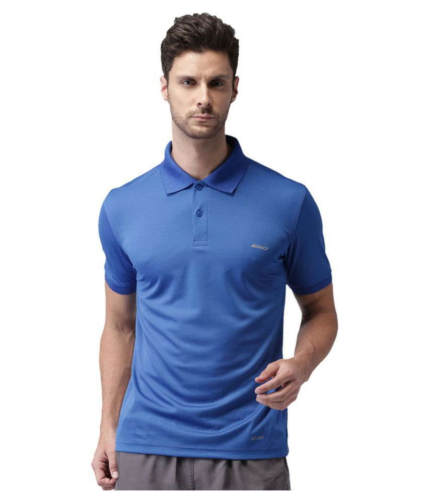 2Go Blue Polyester Polo T-Shirt Single Pack