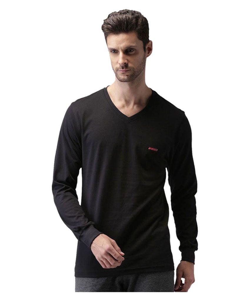 2Go Black Cotton T-Shirt Single Pack