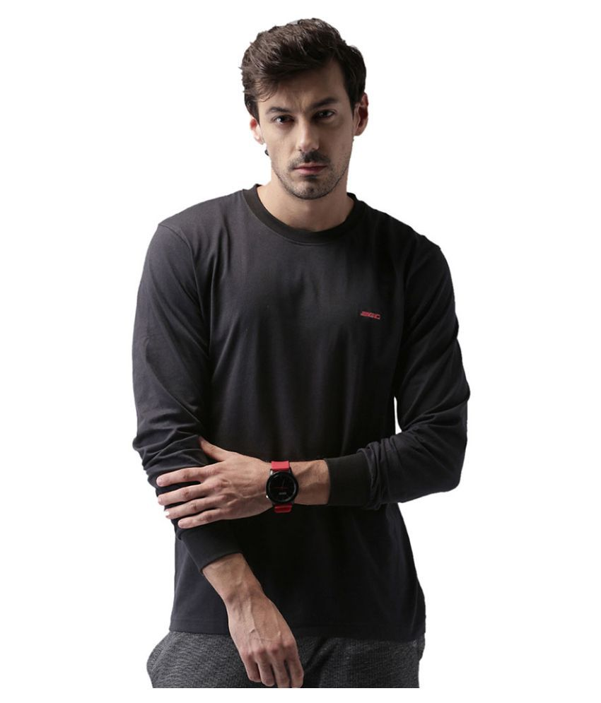 2Go Black Cotton T-Shirt Single Pack