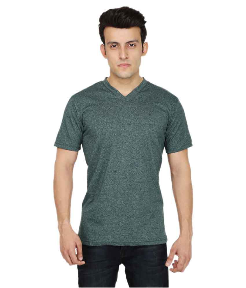 Fabizona Green V-Neck T-Shirt