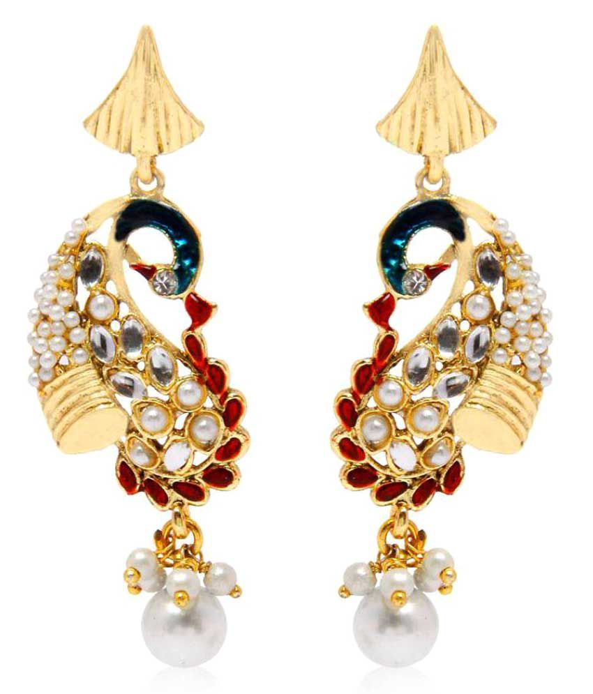 Jewels Gold Alloy Multi Drop Earring For Woman