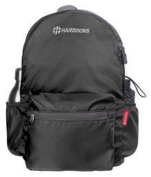 Harissons Black Backpack