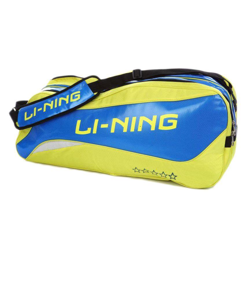 Li-Ning Yellow Backpack Badminton Kit Bag