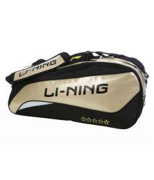 Li-ning Black Backpack Badminton Kit Bag