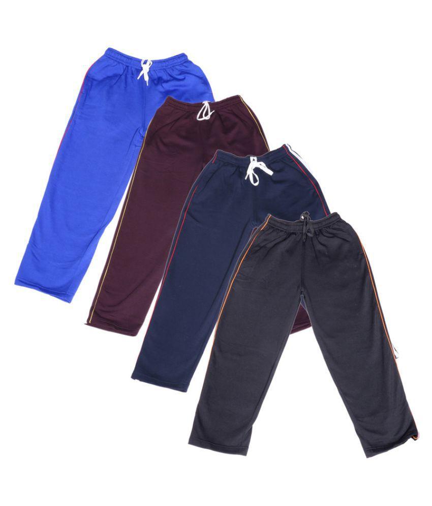 Indiweaves Multicolour Pyjamas - Pack of 4