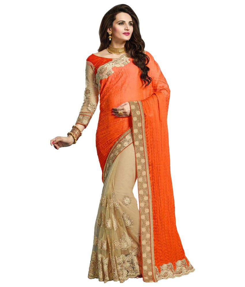 An Ethnic Affair Multicoloured Net Saree