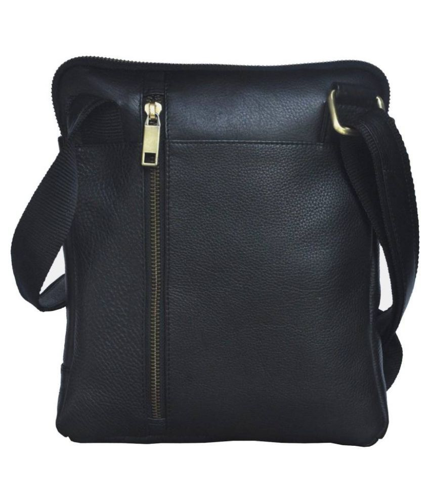 Tamanna Black Pure Leather Sling Bag - Buy Tamanna Black Pure ...