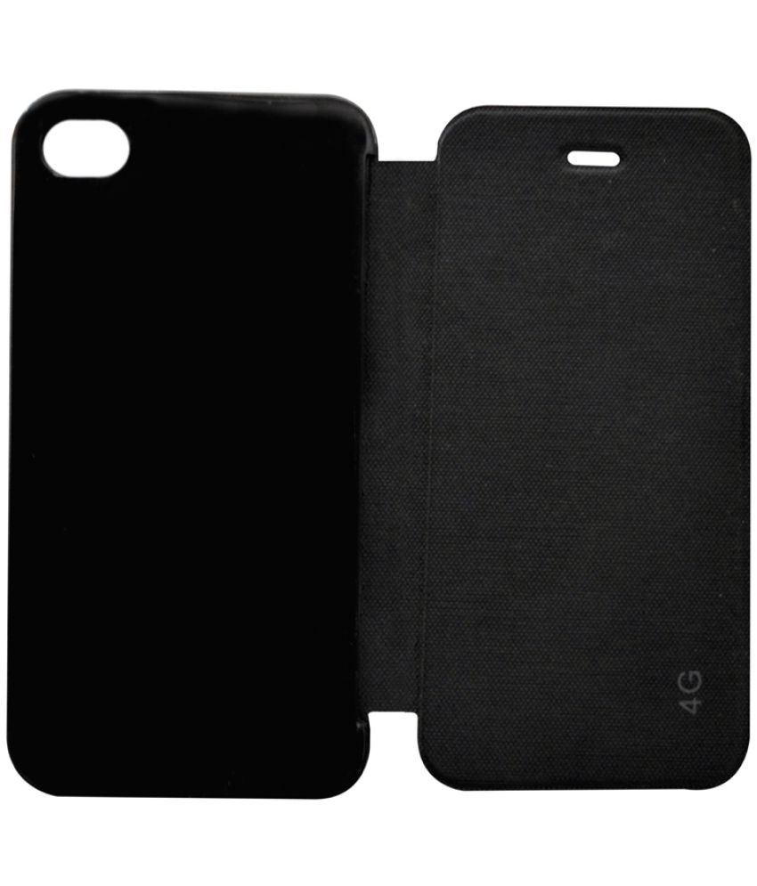 competitive price 1d6b2 7d814 Apple iPhone 4s Flip Cover by COVERNEW - Black