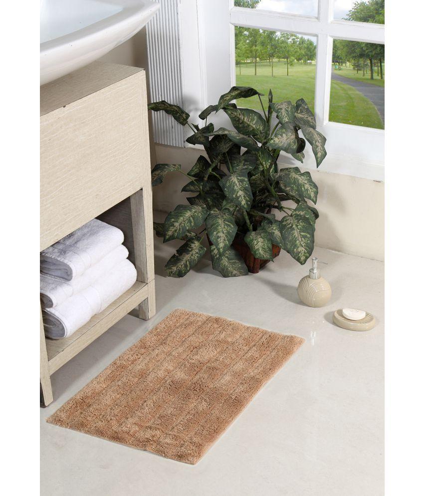Homefurry Beige Single Regular Floor Mat