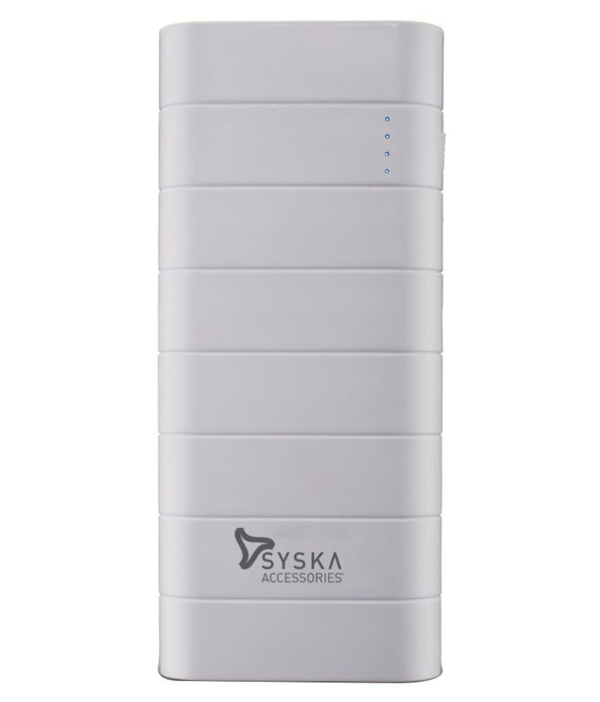 Syska 10000 MAh Power Bank (White, Power Boost 100)