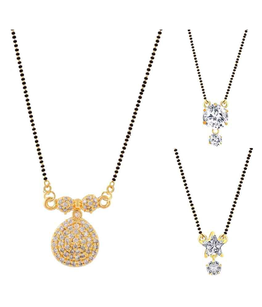 Archi Collection Multicolour Mangalsutra Combo of 3