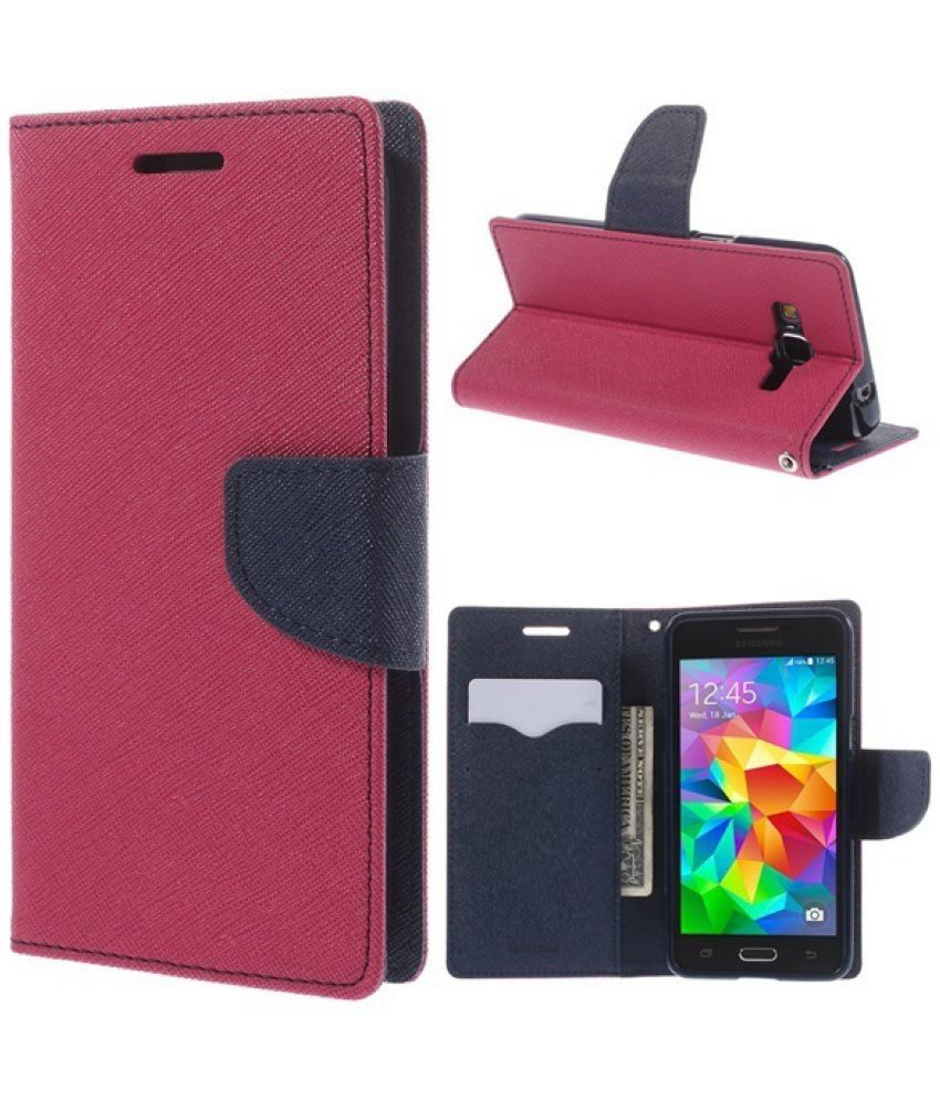 Samsung Galaxy J5 Prime Flip Cover by Trap - Pink