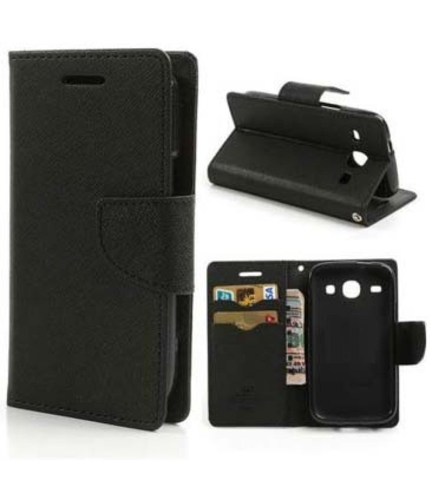 Sony Xperia T2 Flip Cover by Coverup - Black