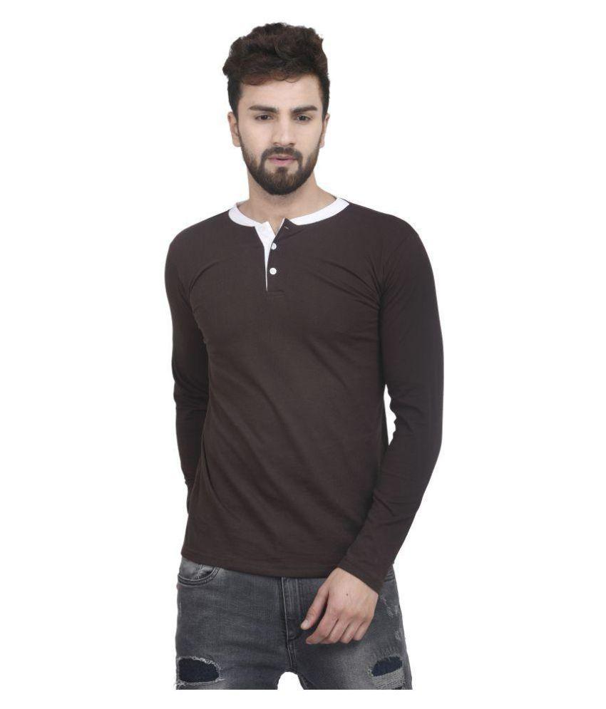 JSCK Brown Henley T-Shirt